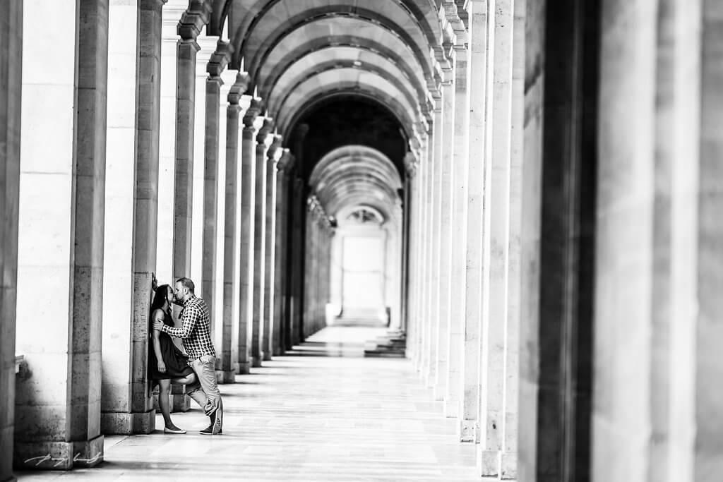 Engagement Shooting Paris Louvre