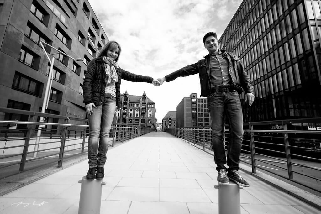 Fotoshooting zur Verlobung Hamburg Speicherstadt