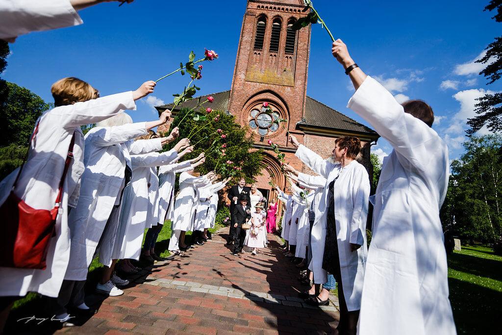 Kirchliche Trauung Hochzeitsfotos in Siek