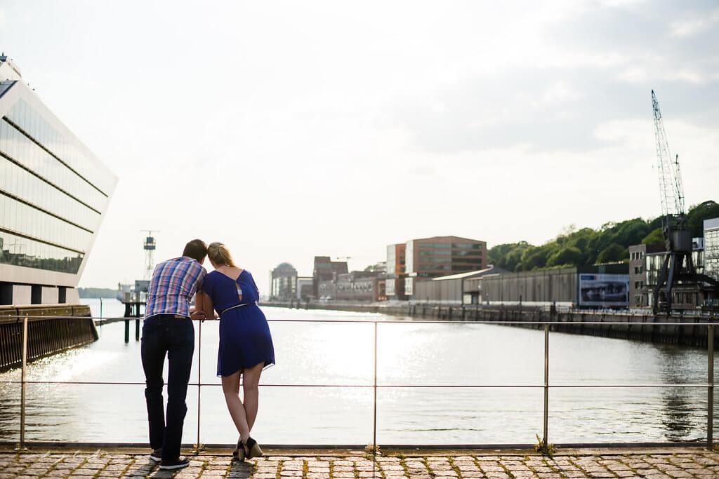 Pärchenfotos Hamburg Hafen