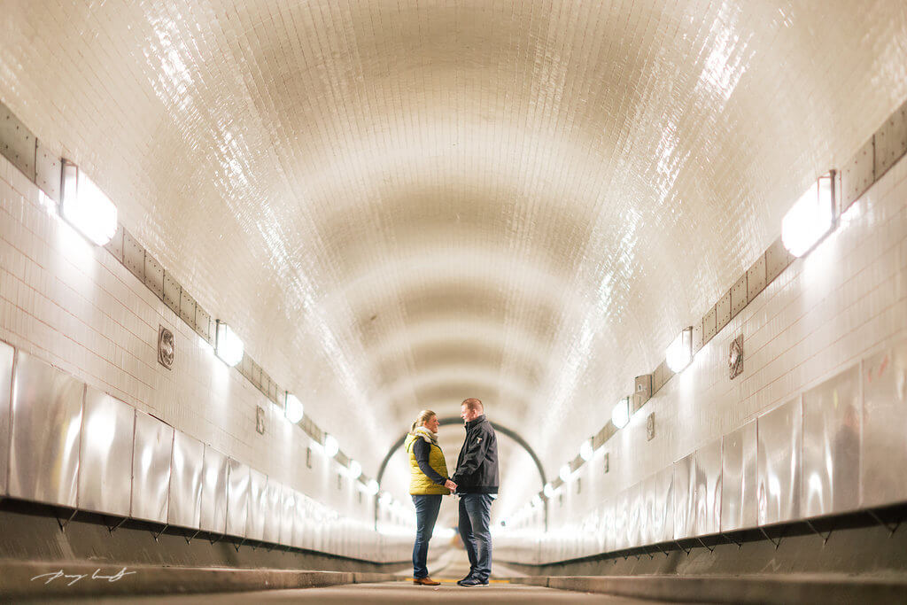 Fotoshooting Hamburg Elbtunnel