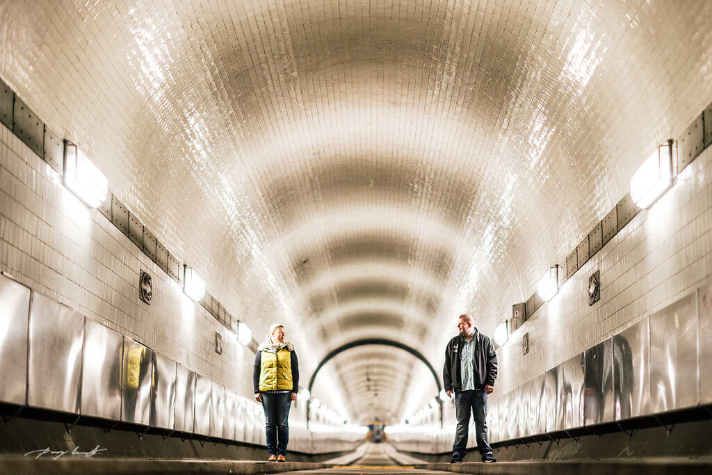Pärchenshooting alter Elbtunnel