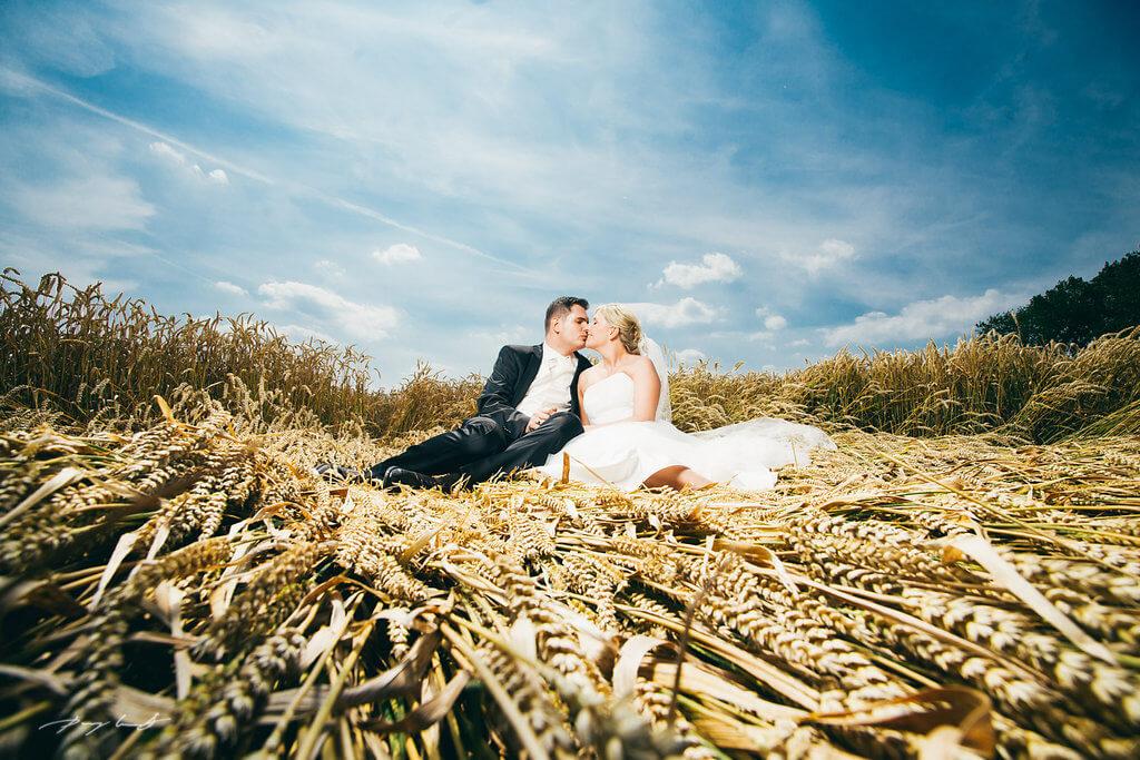 Hochzeitsfotos Kornfeld