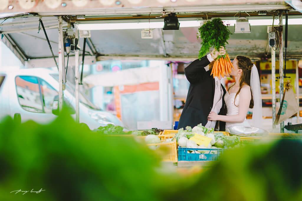 Hochzeitsfotografie Wochenmarkt