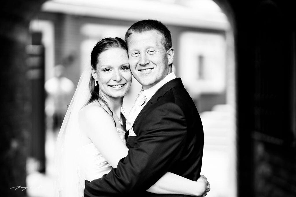 Hochzeitsfotos Schwarz Weiß Lüneburg
