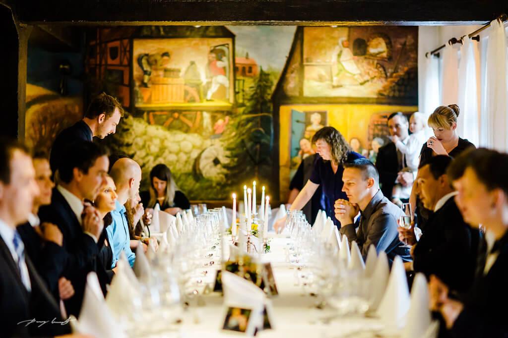 Hochzeitsdeko im Mühlensaal