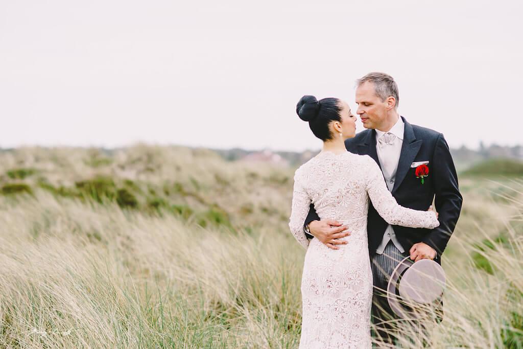 Hochzeitsfotos in Dünen