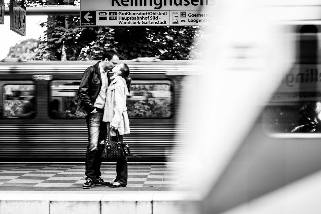 Fotoshooting Bahnhofsstation
