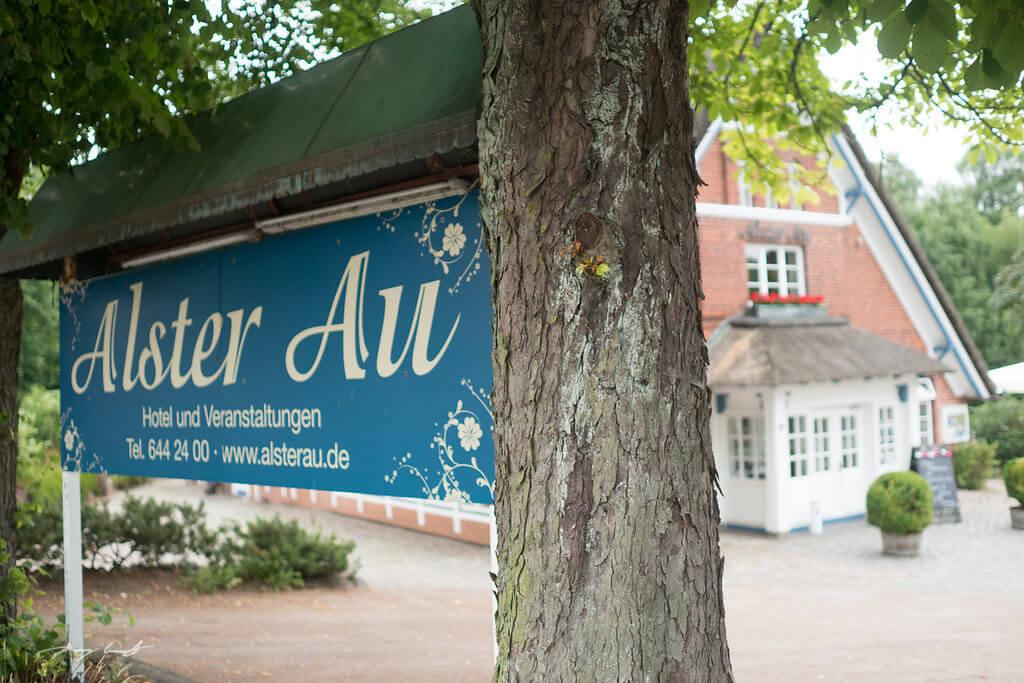 Eingang Hotel Alster Au Hochzeit Fotografie