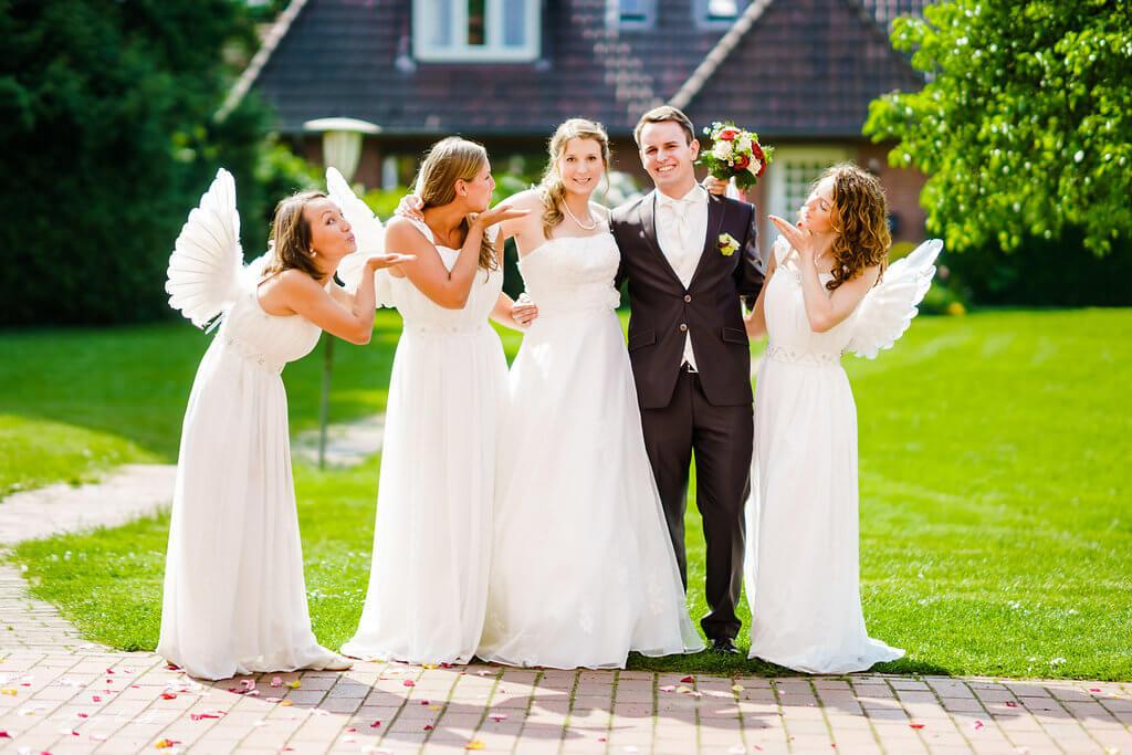 Engel Brautpaar Hochzeitsfotograf Pattensen