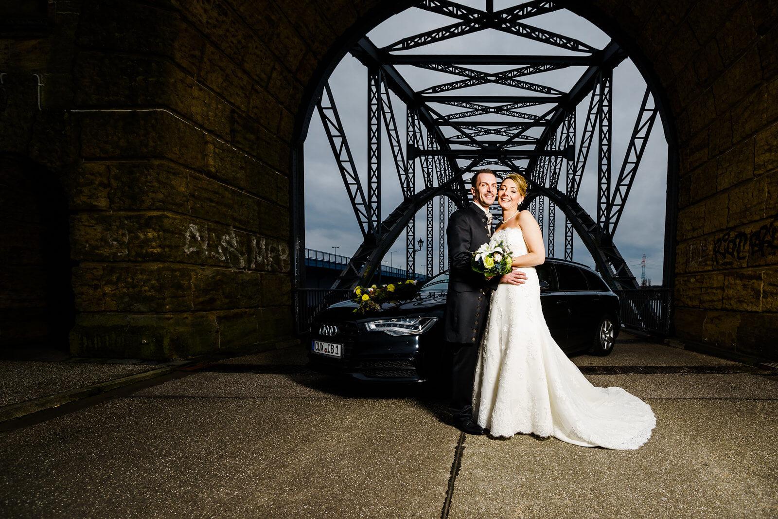 Brücke des 17 Juni Hochzeitsfotografie