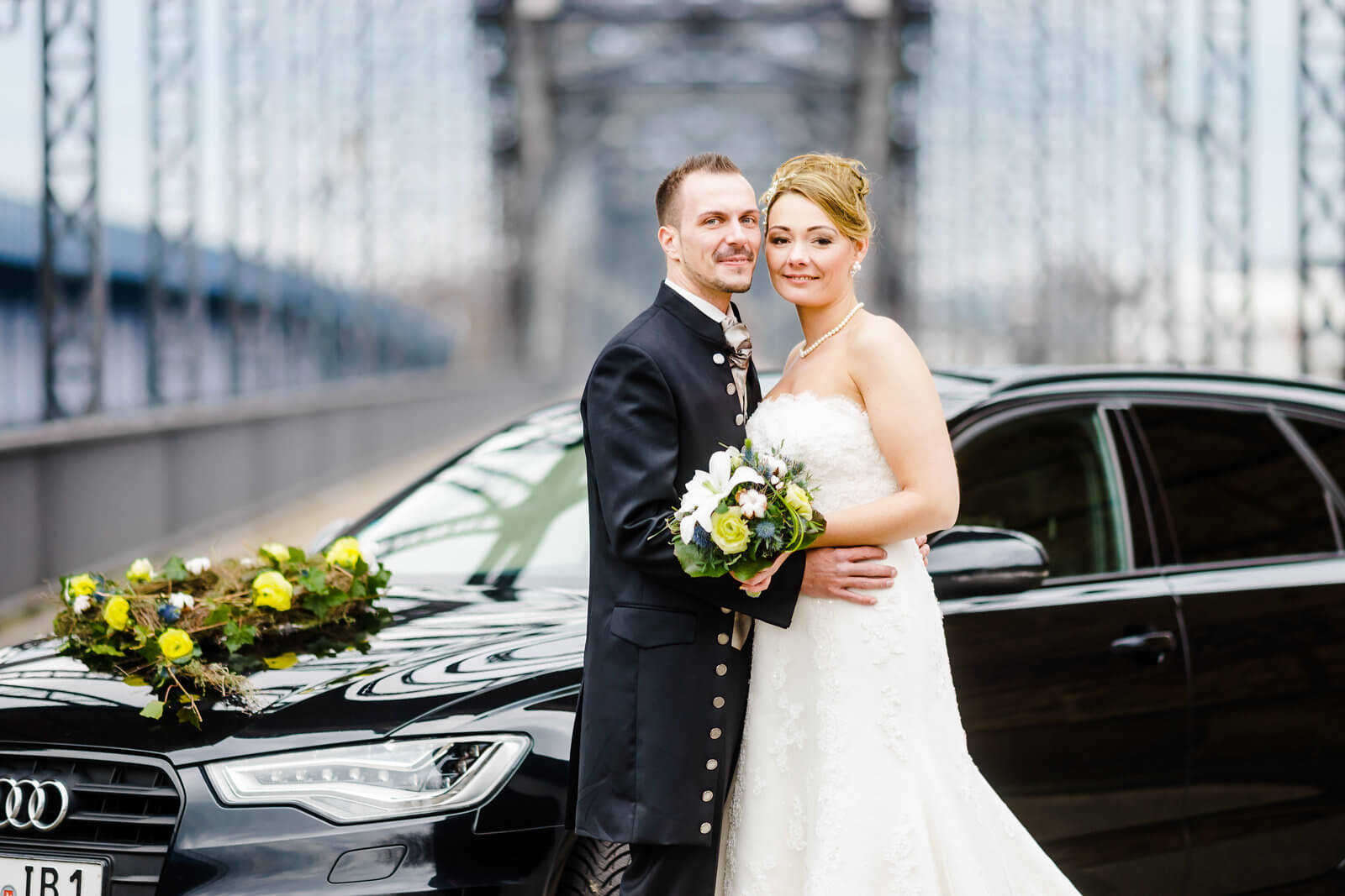 Braut und Bräutigam Hochzeit Brücke des 17. Juni hamburg