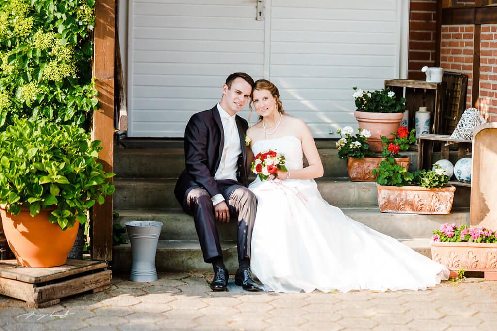 Braut und Bräutigam Hochzeitsfotografie Wulfsen