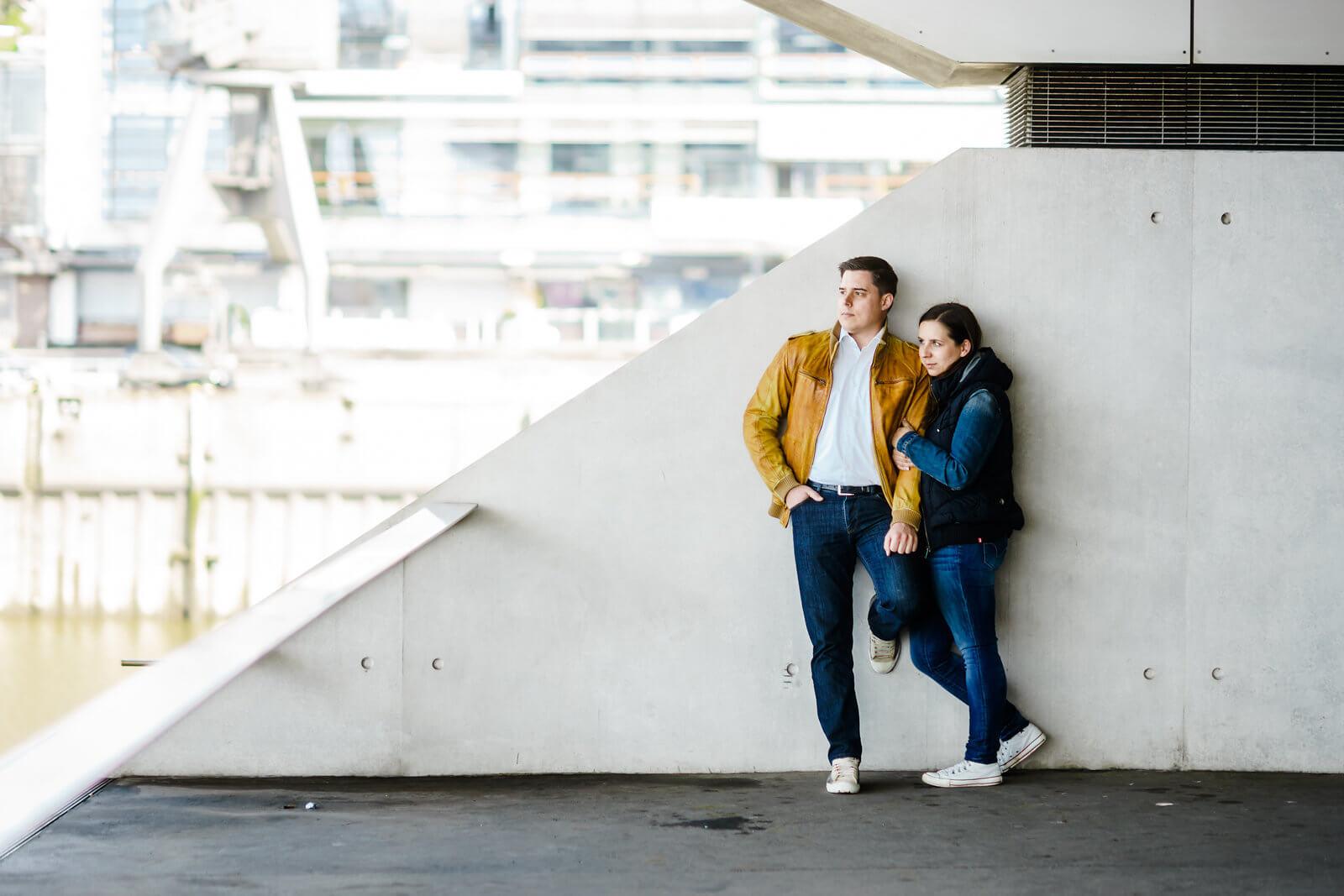 Er und Sie Dockland Paarshooting Hamburg