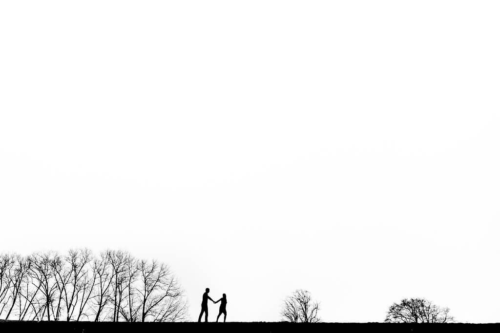 Elbe Deich Stove Paarfotos