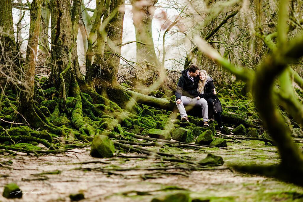 Waldlichtung Stove Pärchen Fotoshooting Drage