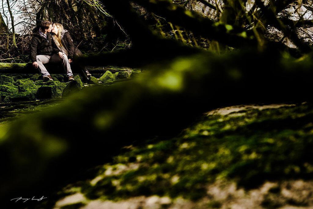 in Drage Paarshooting Waldlichtung Stove