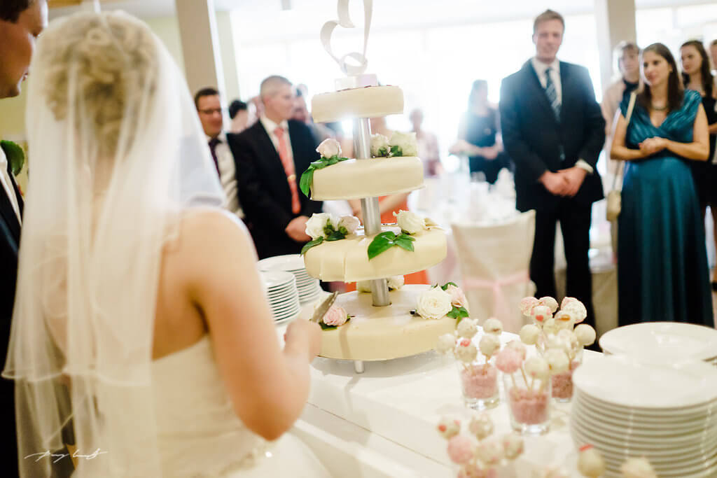 Hochzeitstorte Braut Gasthof Große