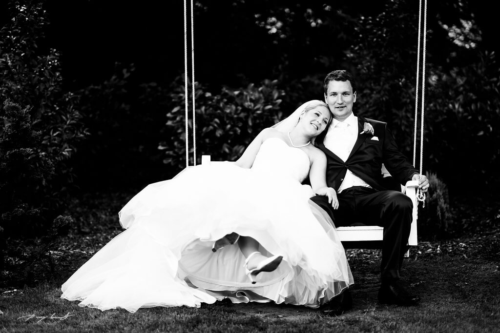 Hollywoodschaukel Brautbaar Fotograf Gasthof Große in Wulfsen