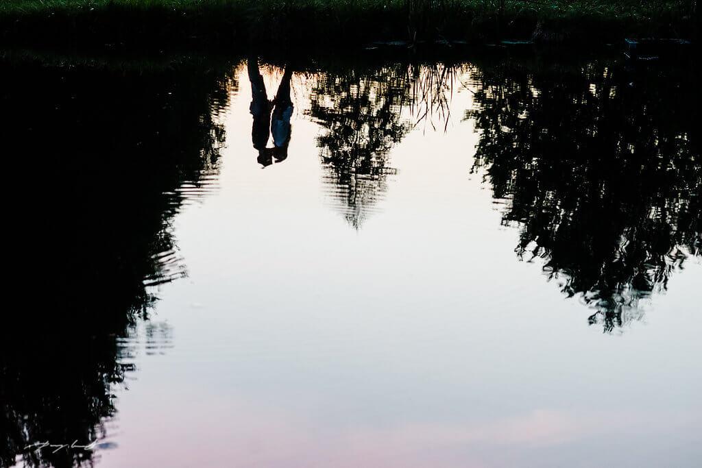 spiegelung pärchen fotografie lüneburger heide