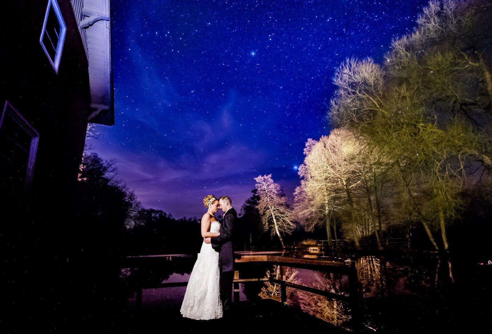 Sternenhimmel Brautpaar Fotografie Sternenklar