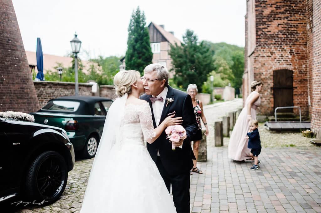 ankunft kloster lüne braut heiraten