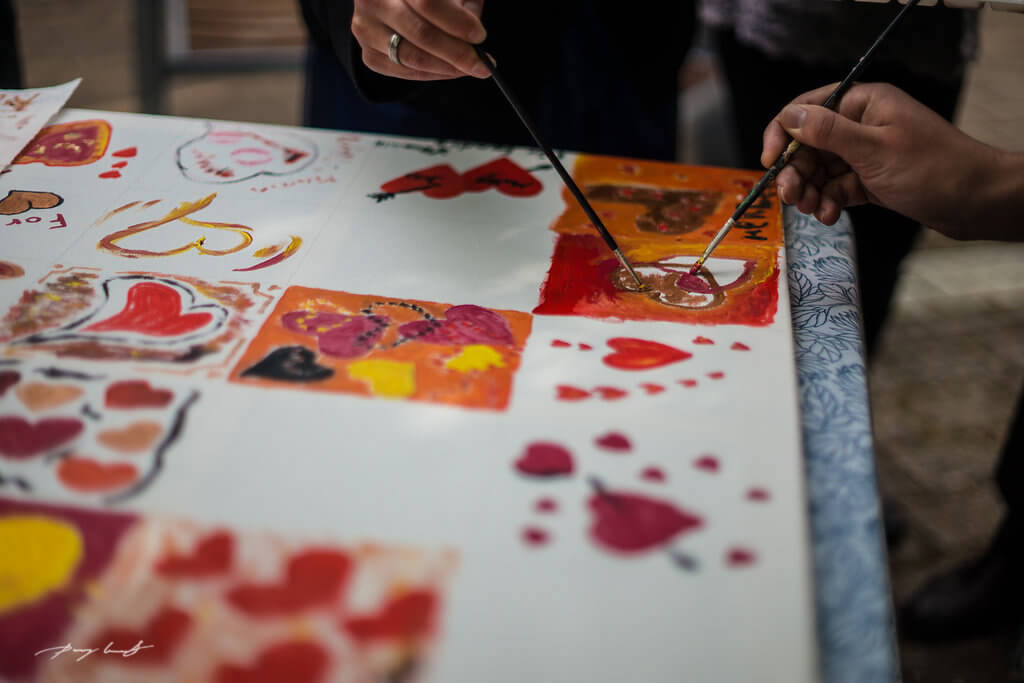gruppenmalerei gäste hohzeitsfeier holdenstedter hof uelzen