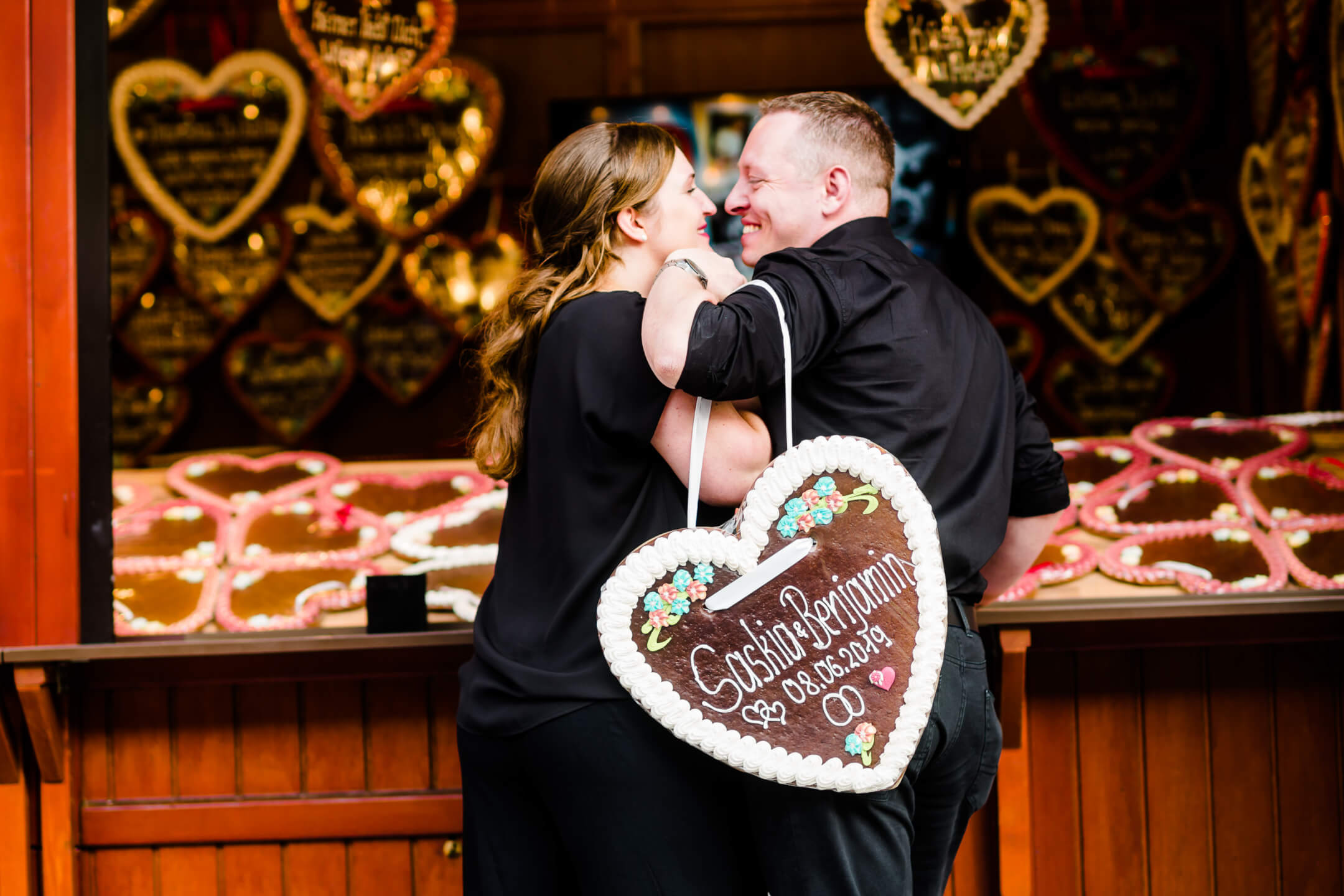 Pärchenfotos Hamburger DOM Verlobung Hochzeit EngagementShooting